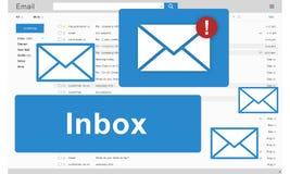 Concepto de los gráficos de la comunicación electrónica del buzón de entrada del correo electrónico stock de ilustración