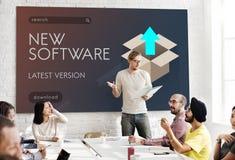 Concepto de los gráficos de la nueva versión de la actualización de la mejora un mejor imagen de archivo libre de regalías