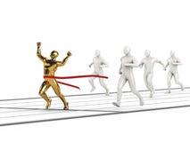 Concepto de los hombres del oro que gana Fotografía de archivo
