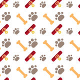 Concepto de los huesos y de los animales domésticos de Paw Seamless Pattern Abstract Ornament del perro libre illustration