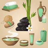Concepto de los iconos del balneario Imagen de archivo libre de regalías