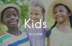 Concepto de los jóvenes del niño de los niños de la juventud de los niños Fotografía de archivo