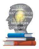 Concepto de los libros de texto del estudiante Imagen de archivo