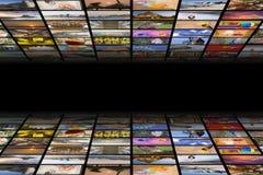 Concepto de los medios de TV Fotografía de archivo libre de regalías