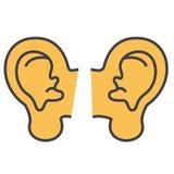 Concepto de los oídos Stock de ilustración