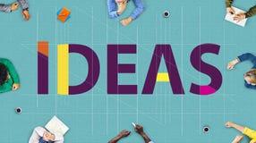 Concepto de los pensamientos de Vision de las táctica de la sugerencia de la estrategia de las ideas Imágenes de archivo libres de regalías