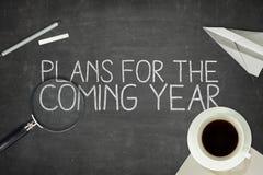 Concepto de los planes para el próximo año Imagen de archivo