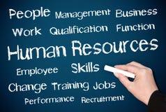Concepto de los recursos humanos Foto de archivo libre de regalías