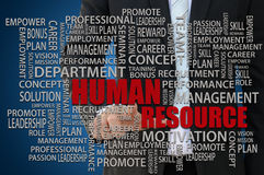 Concepto de los recursos humanos Fotos de archivo libres de regalías