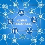 Concepto de los recursos humanos stock de ilustración