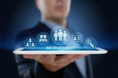 Concepto de los recursos humanos de la hora del negocio de la entrevista del empleado de la carrera del reclutamiento Imagen de archivo libre de regalías
