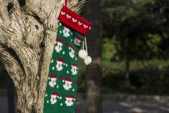 Concepto de los regalos del árbol de la Feliz Navidad y de la Feliz Año Nuevo nuevo Foto de archivo