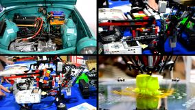 Concepto de los 4 0 Revoluciones industriales almacen de metraje de vídeo