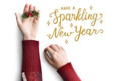 Concepto de los saludos de la Navidad Imagen de archivo