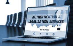 Concepto de los servicios de la autentificación y de la legalización 3d fotografía de archivo libre de regalías