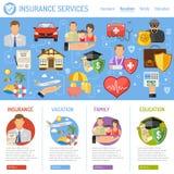 Concepto de los servicios de seguro Imagen de archivo