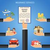 Concepto de los servicios de seguro Imágenes de archivo libres de regalías