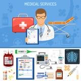 Concepto de los servicios médicos Foto de archivo libre de regalías