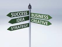 Concepto de los succes de la palabra del negocio Imágenes de archivo libres de regalías