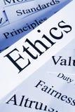 Concepto de los éticas Foto de archivo