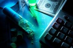 Concepto de los tráficos de droga Imagen de archivo