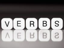 Concepto de los verbos Fotos de archivo libres de regalías