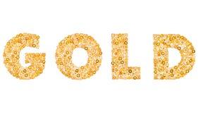 Concepto de lujo del encanto del oro Placer de oro de la joyería Fotografía de archivo