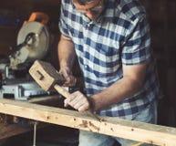 Concepto de Lumber Timber Woodwork del artesano del carpintero imágenes de archivo libres de regalías