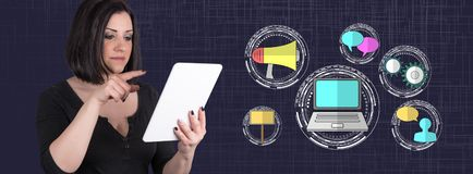 Concepto de m?rketing digital foto de archivo libre de regalías