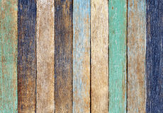 Concepto de madera colorido del fondo de la pared del tablón fotografía de archivo libre de regalías