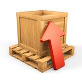 Concepto de madera 8 de la transferencia directa de la caja Foto de archivo libre de regalías