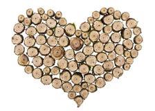 Concepto de madera del corazón Fotos de archivo