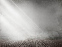 Concepto de madera del sitio del espacio de la copia de la luz del tablón fotografía de archivo libre de regalías