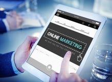 Concepto de marcado en caliente del comercio de la publicidad en línea del márketing fotos de archivo libres de regalías