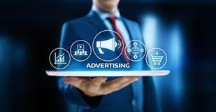 Concepto de marcado en caliente de la tecnología del negocio del plan de márketing de publicidad imagen de archivo libre de regalías