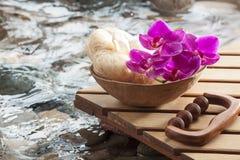 Concepto de masaje puro para la belleza interna Foto de archivo libre de regalías