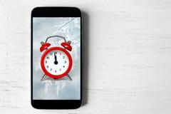 Concepto de medianoche de la cuenta descendiente Imagen de archivo libre de regalías