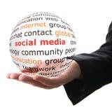 Concepto de medios sociales Imagenes de archivo