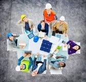 Concepto de Meeting Construction Design del ingeniero del arquitecto fotografía de archivo libre de regalías