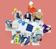 Concepto de Meeting Construction Design del ingeniero del arquitecto imagen de archivo