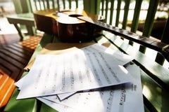 Concepto de Melody Creativity Guitar Musical Instrument del escritor de la canción Foto de archivo
