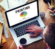 Concepto de mezcla del color de la paleta de la impresión del RGB Imágenes de archivo libres de regalías