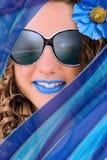 Tendencia azul del verano Foto de archivo