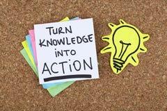Concepto de motivación del fondo de la nota de la frase de la cita de la acción de negocio Fotografía de archivo libre de regalías