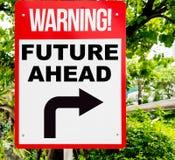 Concepto de motivación del negocio del futuro a continuación Fotos de archivo