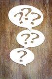 Concepto de muchas preguntas y problemas Imagen de archivo libre de regalías