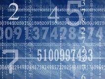 Concepto de números Imagen de archivo