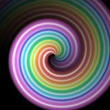 Concepto de neón del arco iris del caramelo que se encrespa imagen de archivo libre de regalías