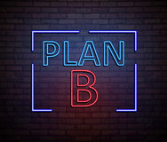 Concepto de neón del plan B Imagen de archivo
