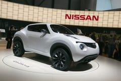 Concepto de Nissan Qazana - demostración 2009 de motor de Ginebra Imágenes de archivo libres de regalías